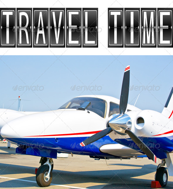 PhotoDune Travel Time plane 3795010