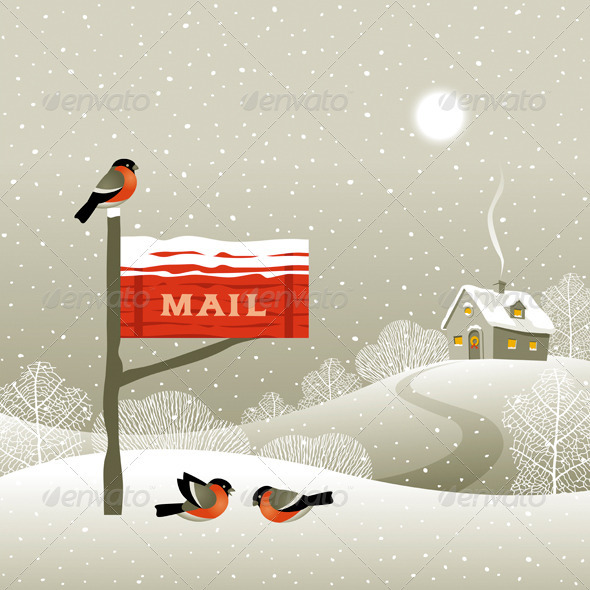 GraphicRiver Mailbox On The Forest Edge 3303366
