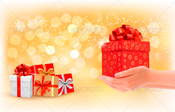 GraphicRiver Christmas Background with Gift Boxes 3502725