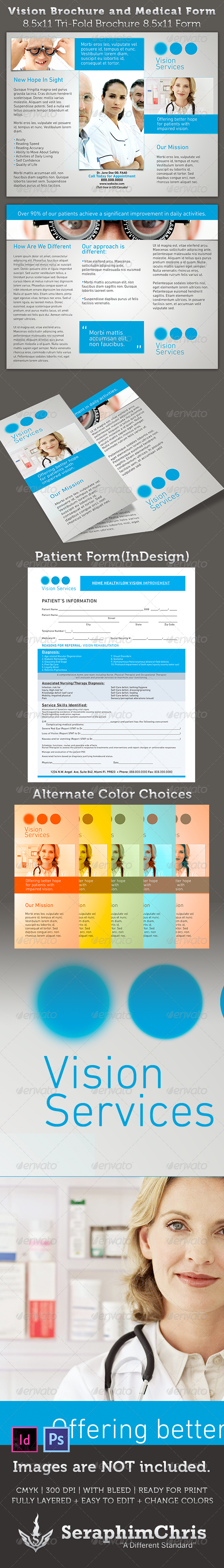 GraphicRiver Vision Brochure and Medical Form Template 3502746