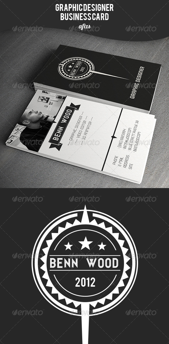 GraphicRiver Graphic Designer Business Card 3502781