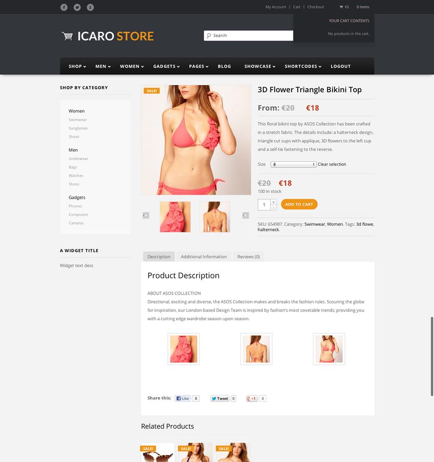 Icarostore - Responsive WooCommerce Theme