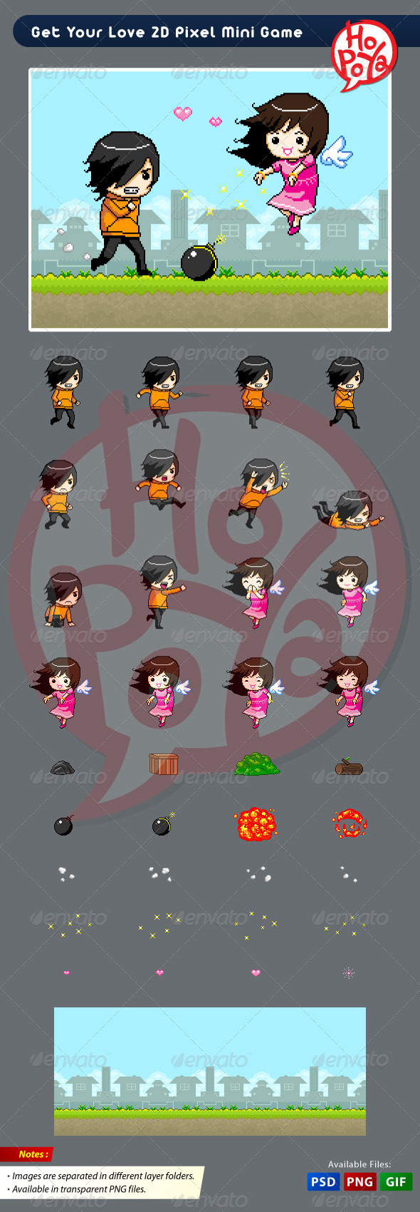 Get Your Love 2D Pixel Mini Game - Illustrations Graphics