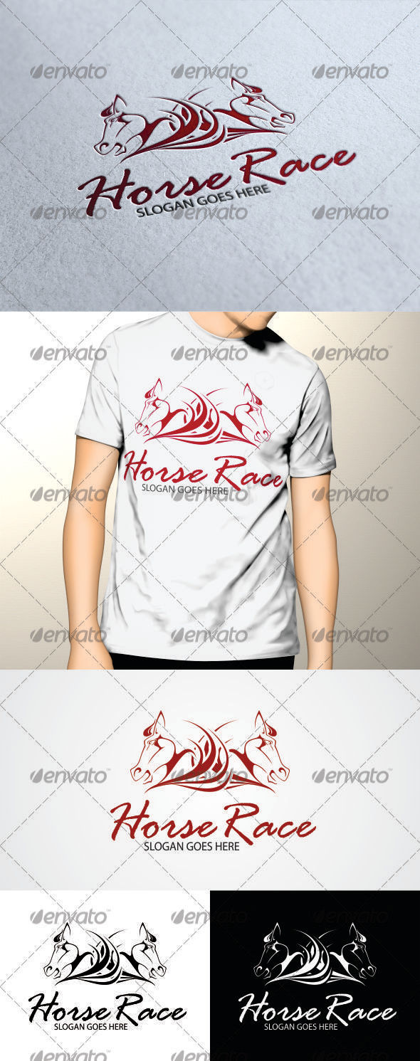 GraphicRiver Horse Race Logo 3291566