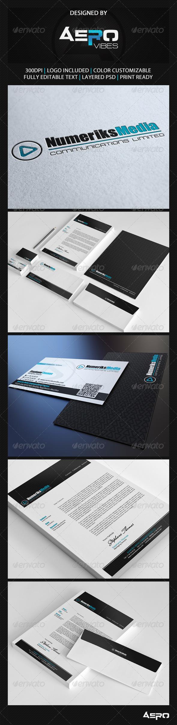 GraphicRiver Modern Black Corporate Identity 3503142