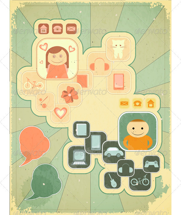GraphicRiver Retro Placard Hobbies 3503428