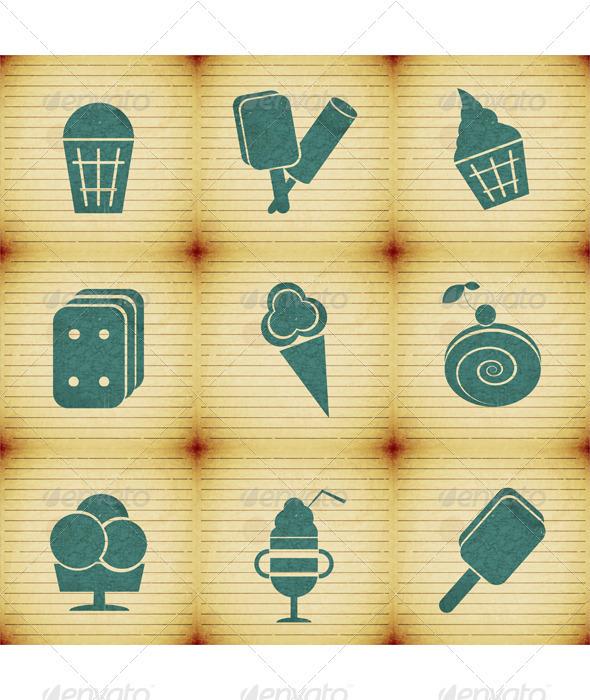 GraphicRiver Ice Cream Labels Set 3503511