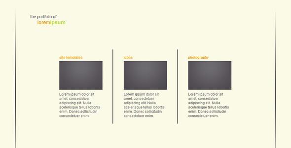ThemeForest Simple Transitions Portfolio 16307