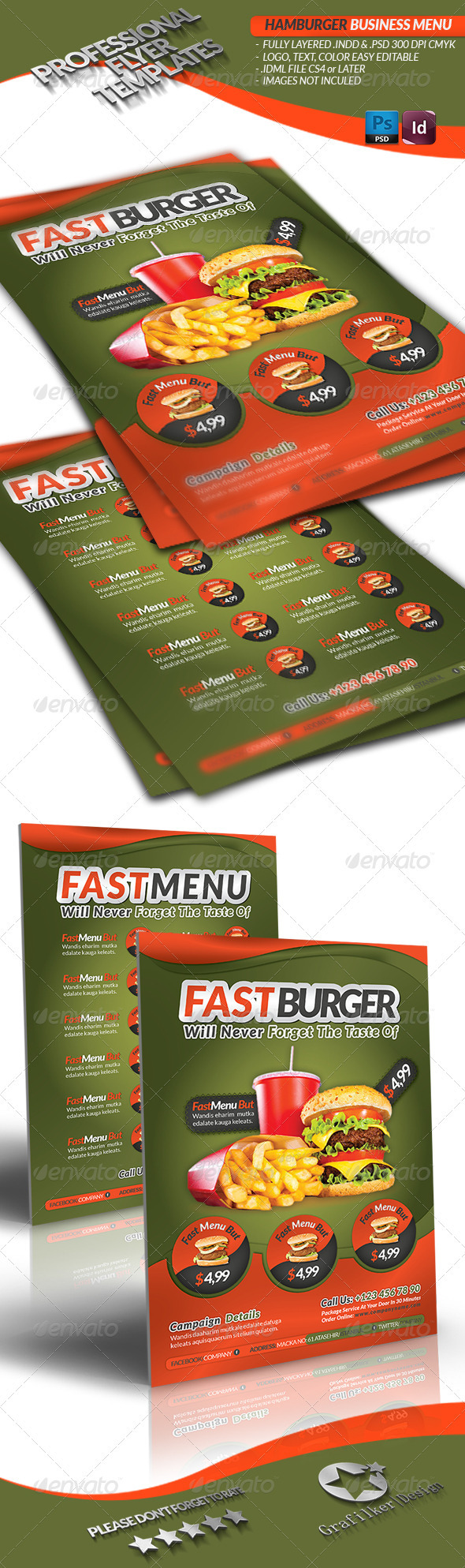 GraphicRiver Restaurant Food Menu 3504293