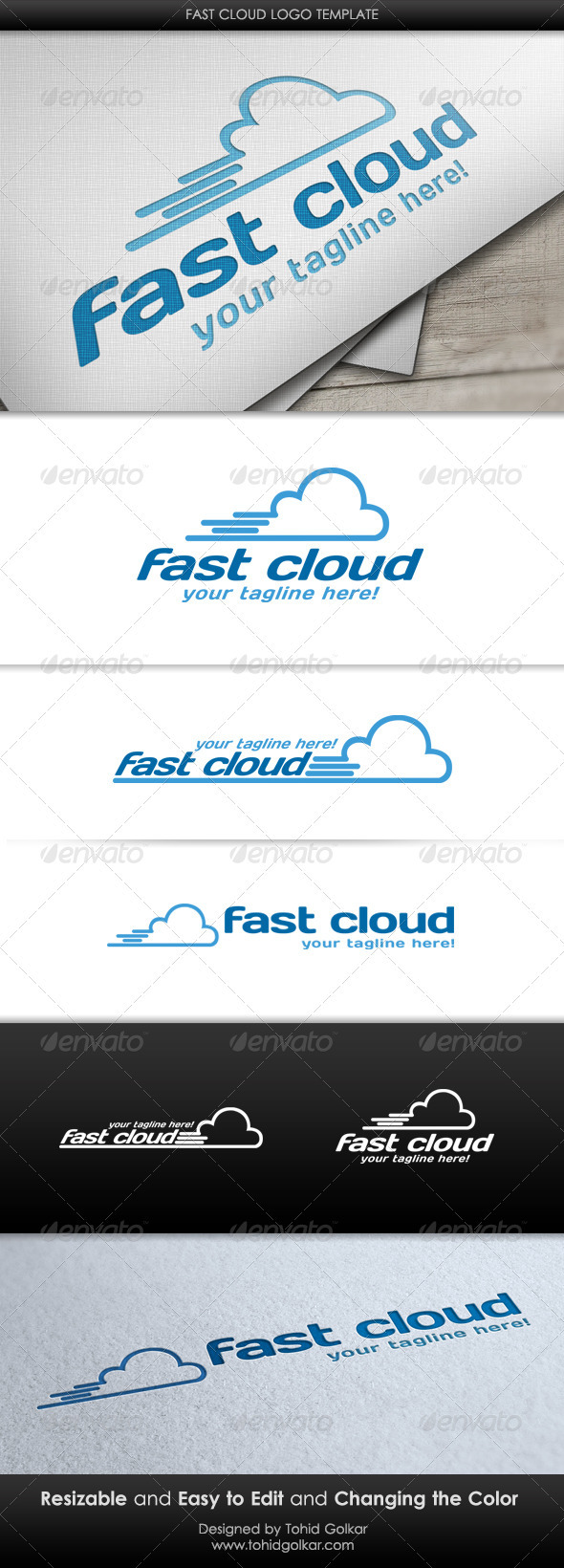 GraphicRiver Fast Cloud Logo Template 3504745