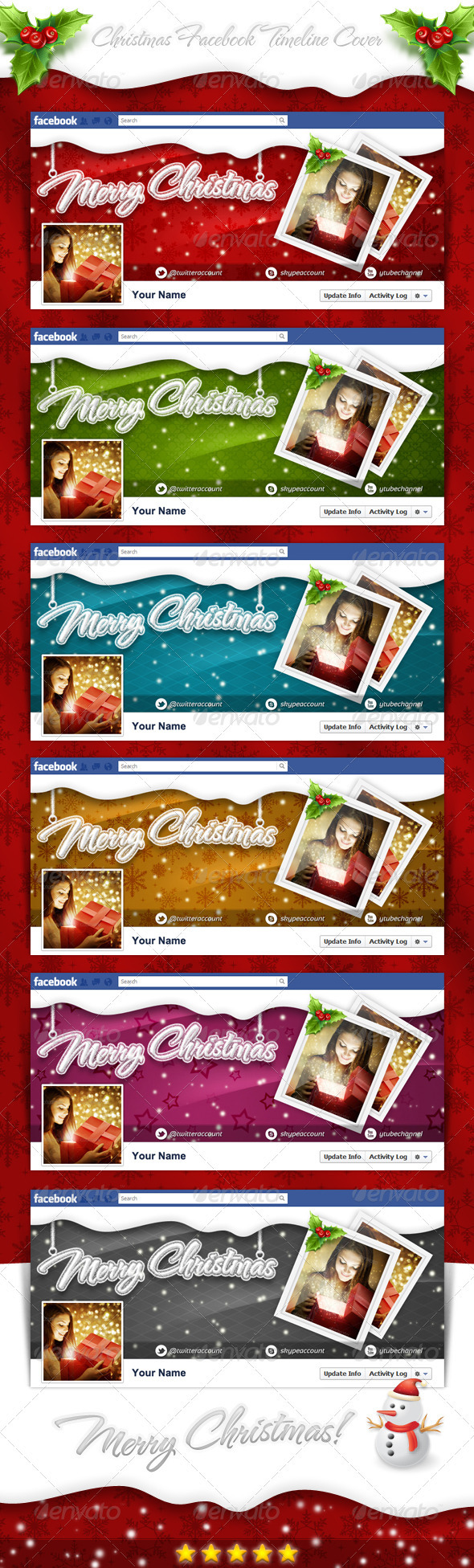 GraphicRiver Christmas FB Timeline Cover 3505184