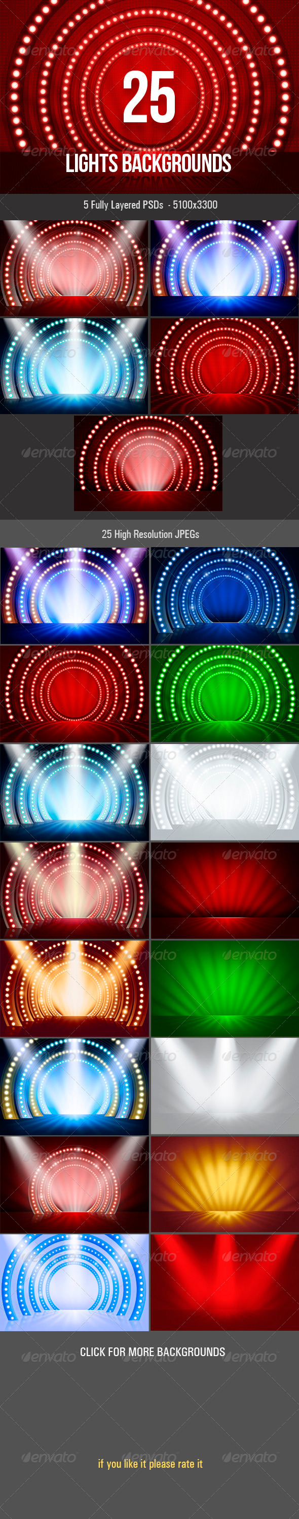 Lights Backgrounds - 3D Backgrounds