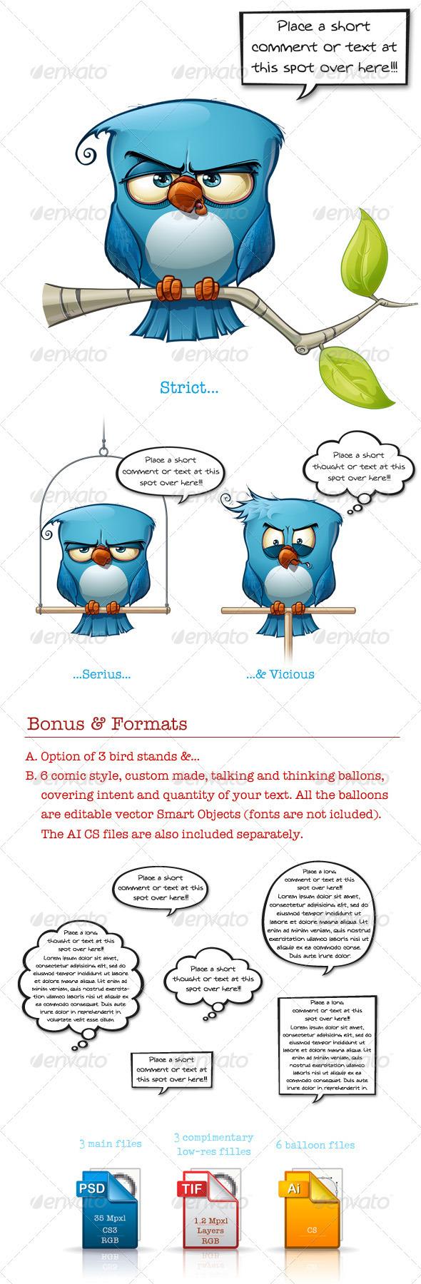 GraphicRiver Blue Bird Strict-Serius-Vicious 3473049