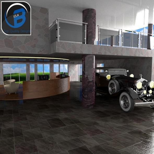 3DOcean Car Showroom With Free Rolls Royce 3506908
