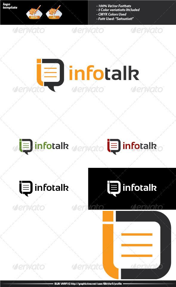 GraphicRiver Info Talk Logo Template 3506950