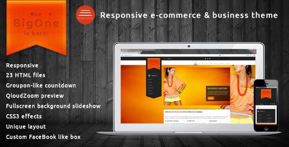 ThemeForest BigOne Responsive E-commerce & business template 3507039