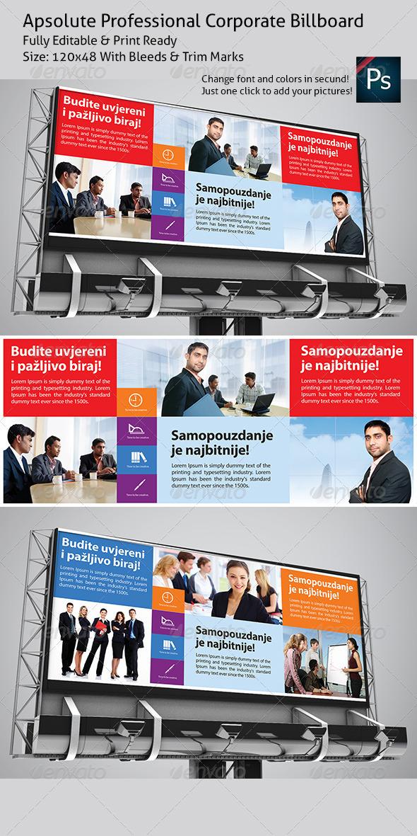 GraphicRiver Apsolute Professional Corporate Billboard 3507190