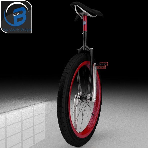 3DOcean Sports Unicycle Carbon Fiber 3507219