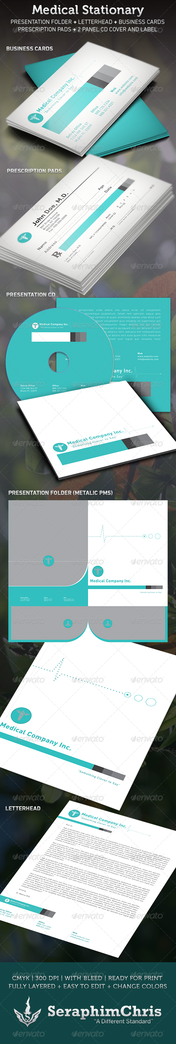GraphicRiver Medical Stationary Template 3507363