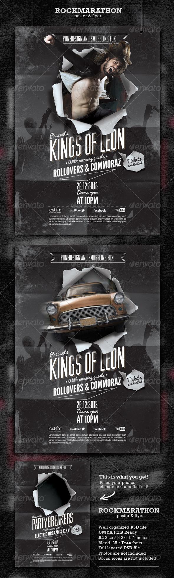 Rock Poster & Flyer - Concerts Events