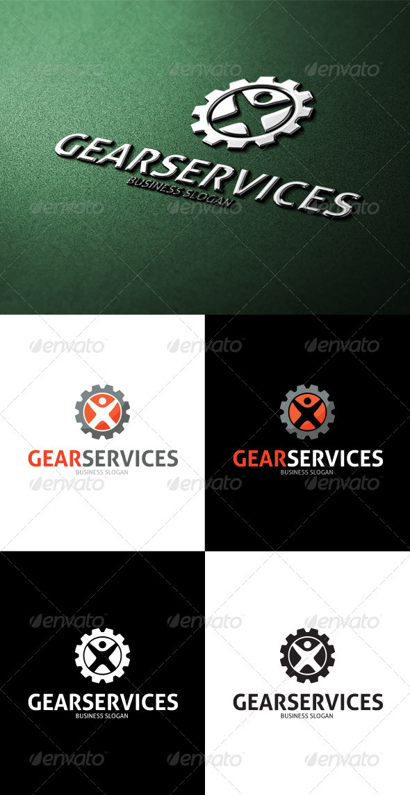GraphicRiver Gear Services Logo 3507507