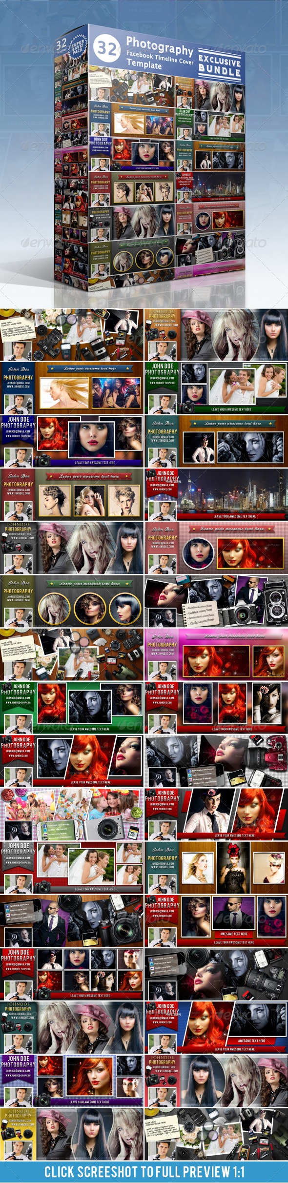 GraphicRiver Photography FB Timeline Cover Bundle 3507560