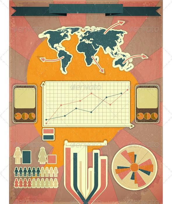 GraphicRiver Retro Infographic Design 3507681