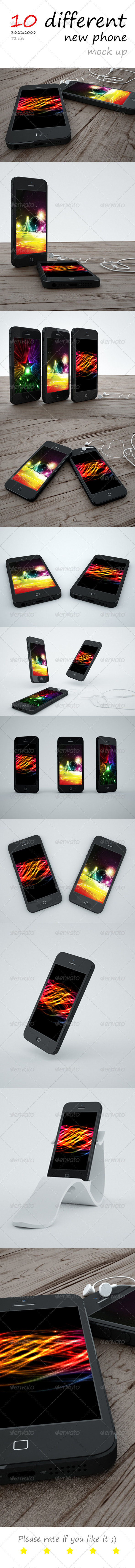 GraphicRiver New Phone Mock up 3475893