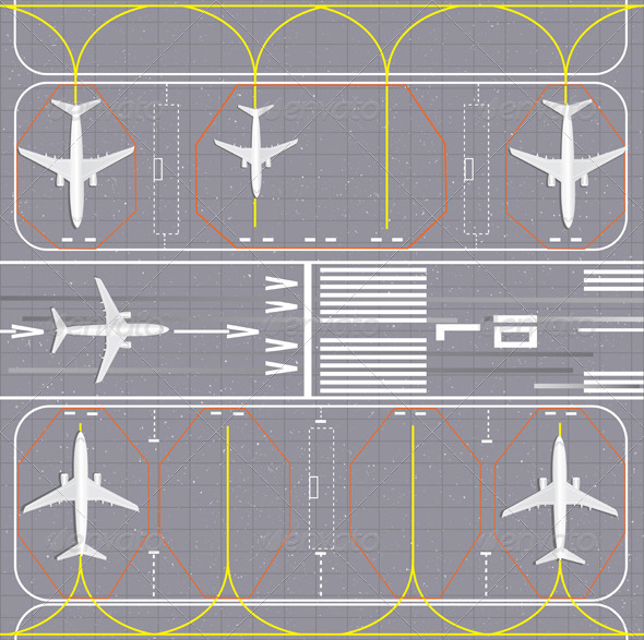 GraphicRiver Airport Layout 3508151