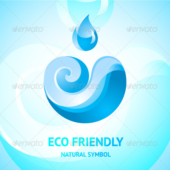 GraphicRiver Blue Water Natural Symbol 3508325