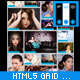 HTML5 Responsive Photo Multimedia Grid