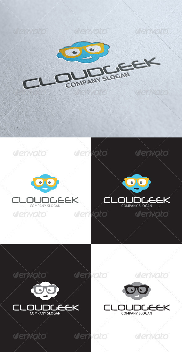 GraphicRiver Cloud Smart Geek Logo 3508448