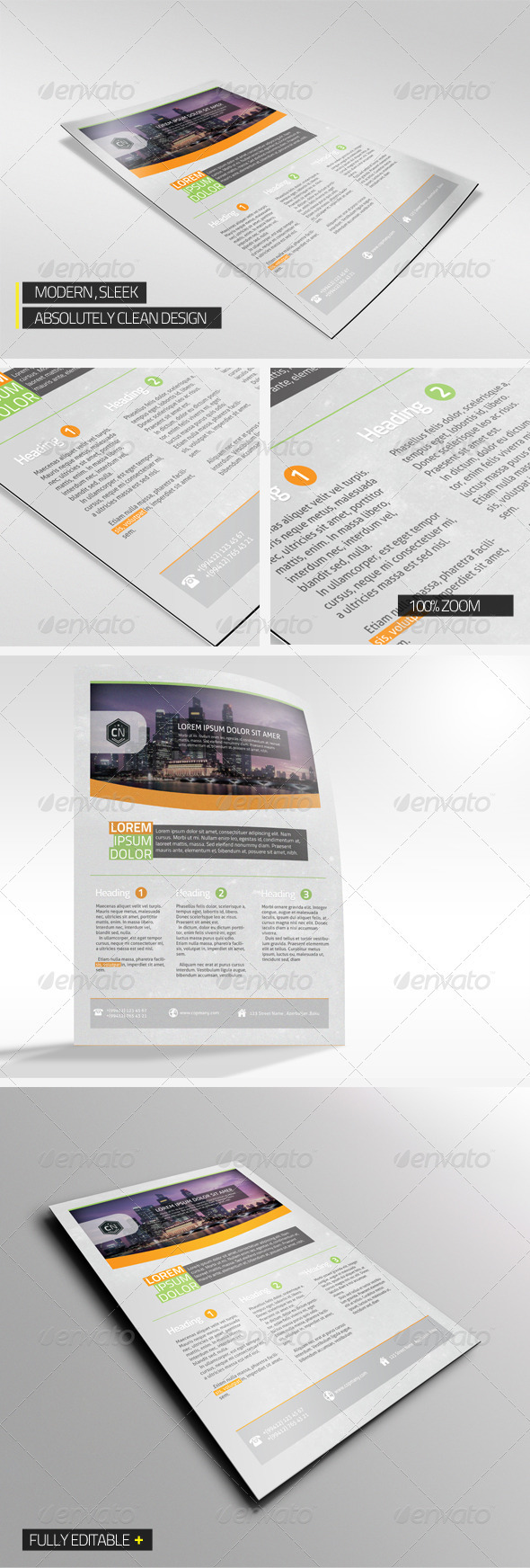 GraphicRiver Modern Corporate Flyer 3508721