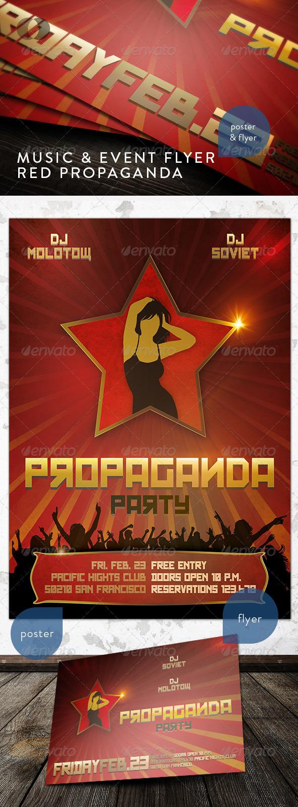 GraphicRiver Music & Event Flyer Red Propaganda 152209