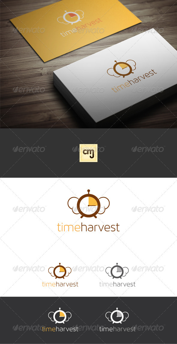 GraphicRiver Time Harvest Logo Template 3508868