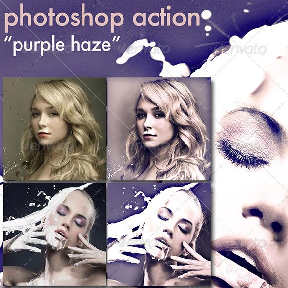 GraphicRiver Photoshop Action Purple Haze 3509516