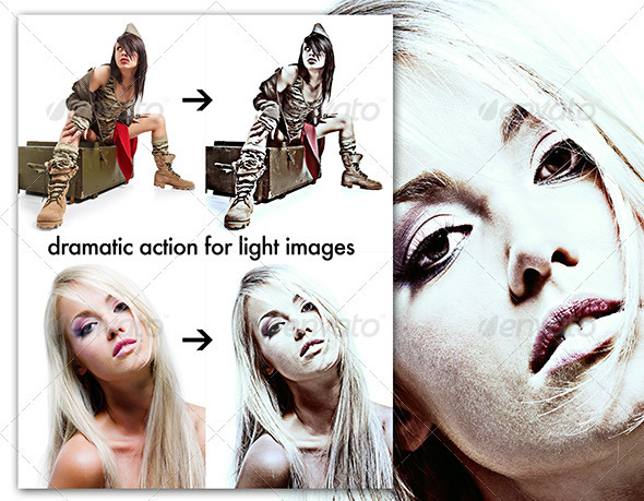 Dramatic Action for Lighter Images - Photo Effects Actions