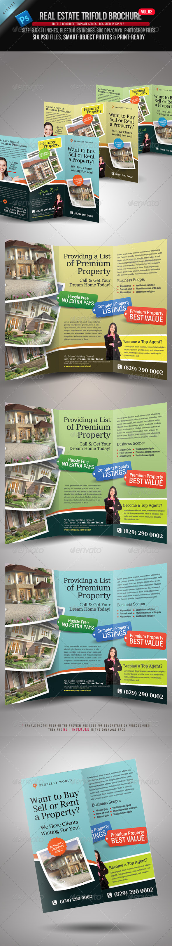 Real Estate Trifold Brochure Vol.02 - Corporate Brochures