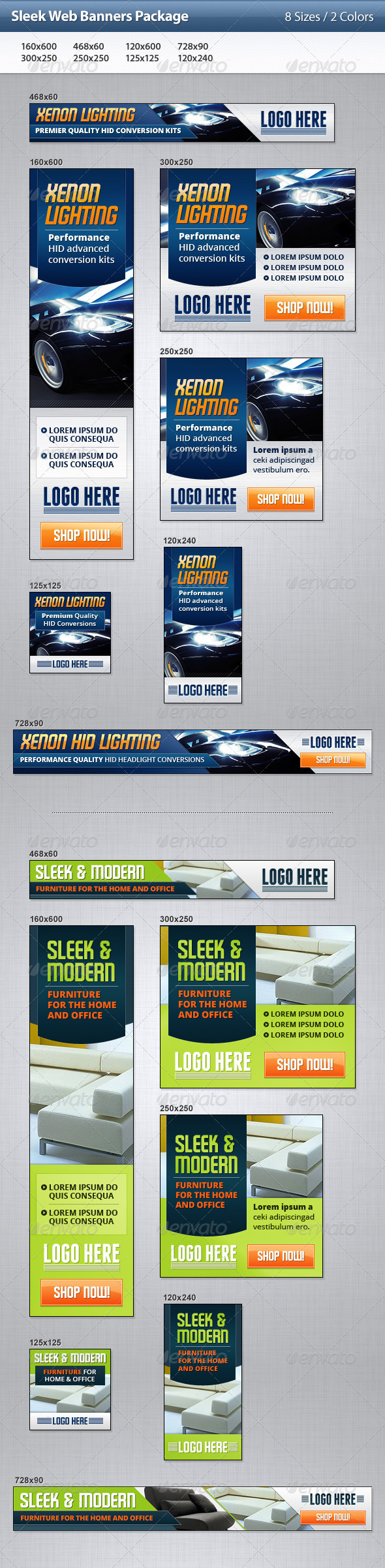 GraphicRiver Sleek Web Banners Package 3509747