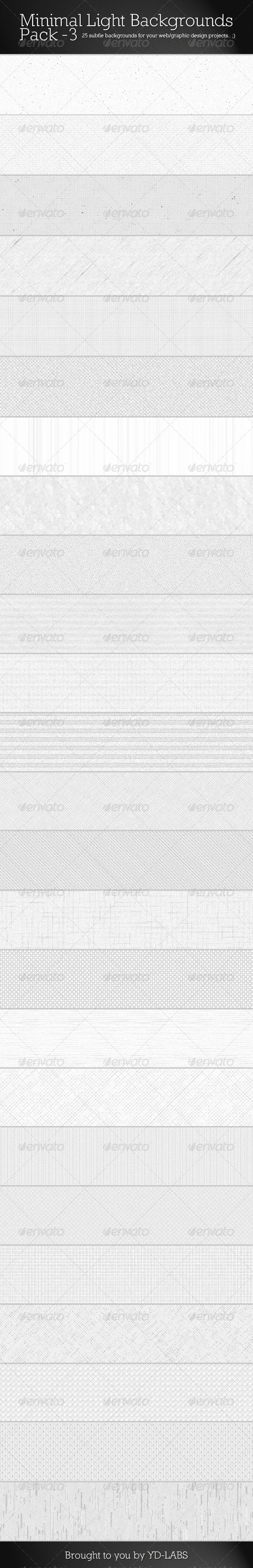GraphicRiver Minimal Light Backgrounds Pack 3 3509958