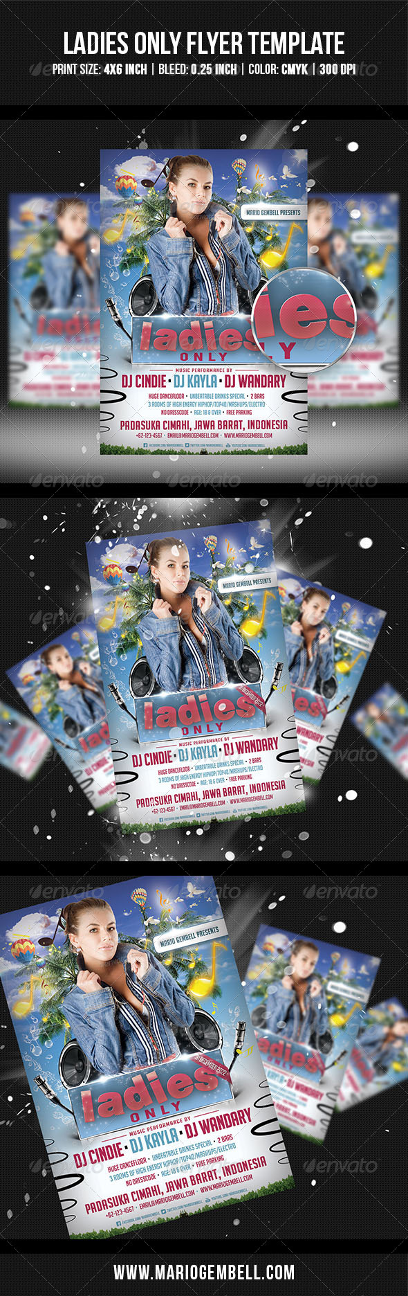 Ladies Only Flyer Template - Clubs & Parties Events