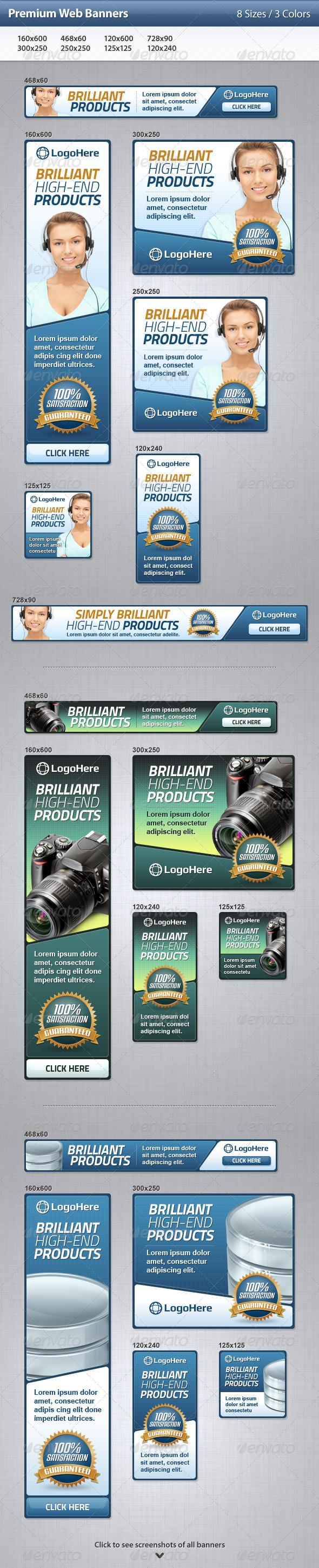 GraphicRiver Premium Web Banners 3510440