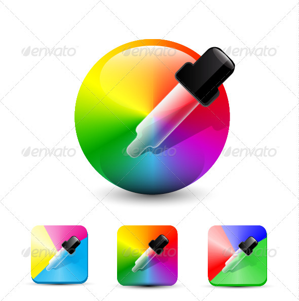 GraphicRiver Vector Color Picker Icons 3510600