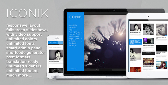 ThemeForest Iconik Full Experience Wordpress Theme 3475987