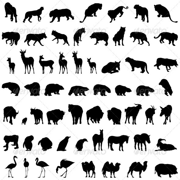 GraphicRiver Animal Silhouette Set 3511163