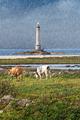 Lighthouse of Goury at Cap de la Hague under heavy rain, Normand - PhotoDune Item for Sale
