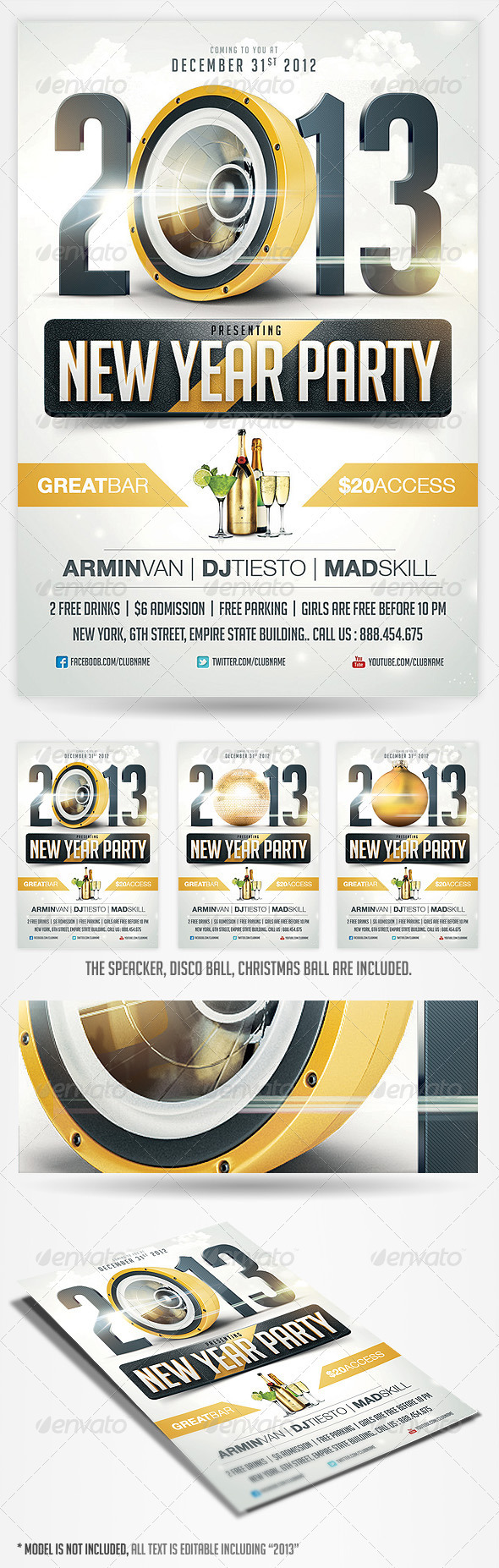 GraphicRiver 2013 New Years Eve Party Flyer 3512530