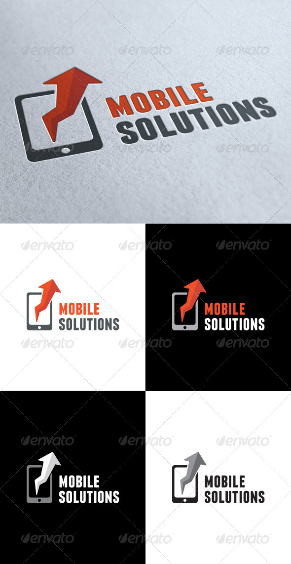 GraphicRiver Mobile Solutions Logo 3512538