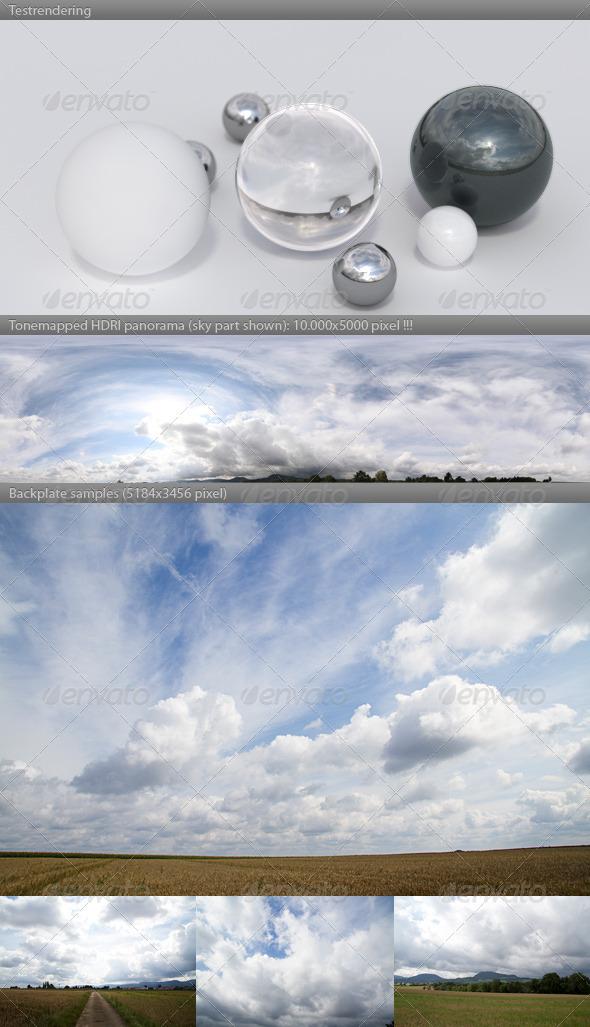 3DOcean HDRI spherical sky panorama 1012 cloudy sky 410274