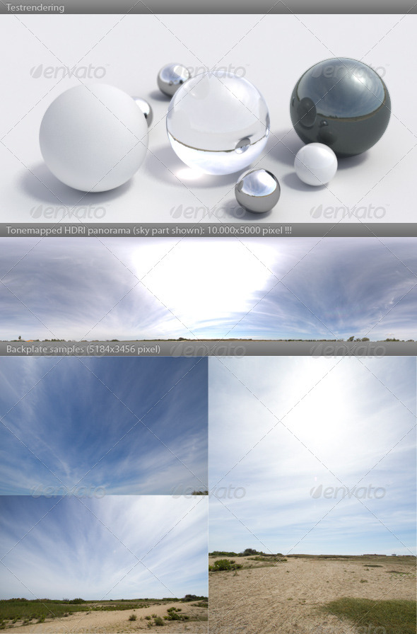 3DOcean HDRI spherical panorama 1125- sunny sky clouds 309951